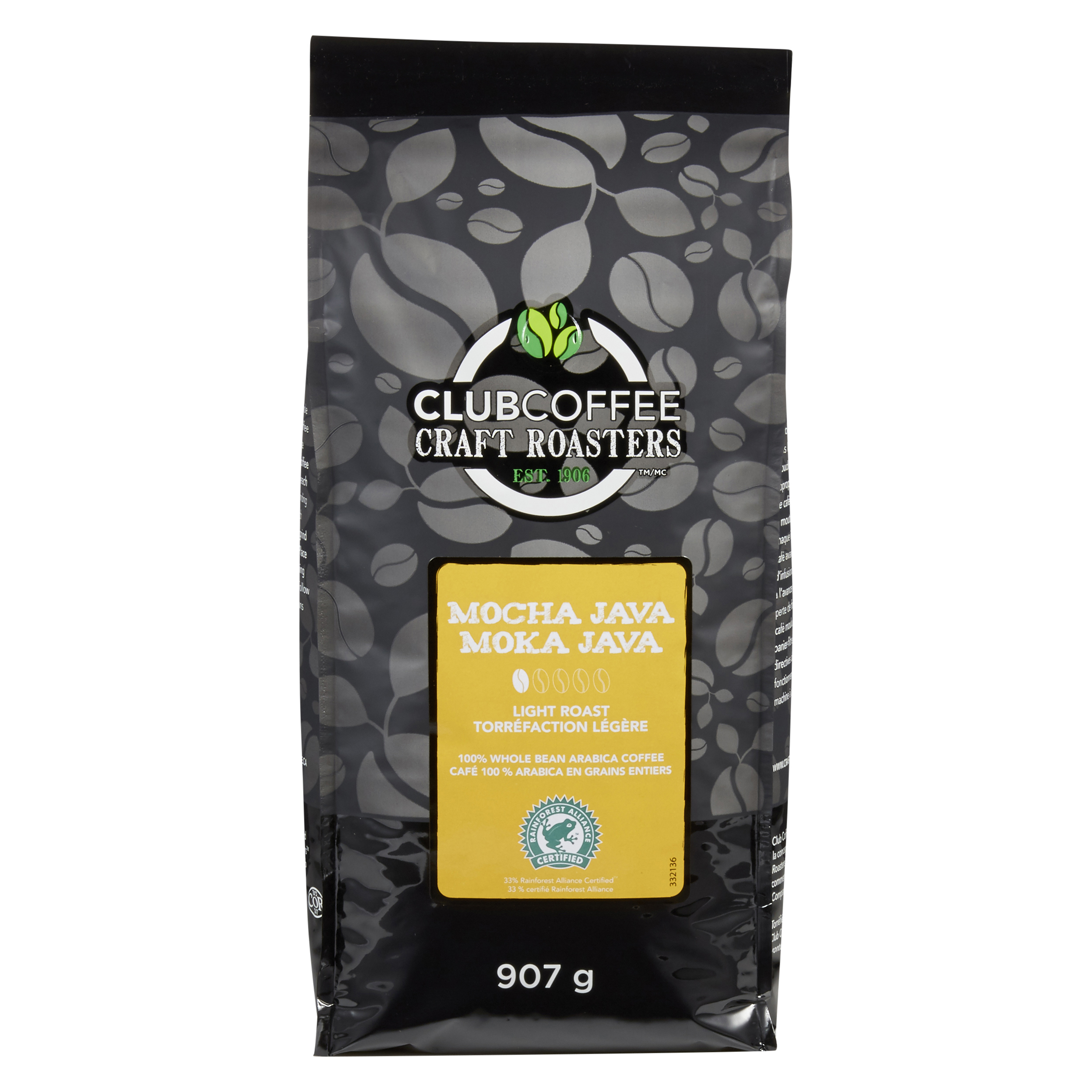 Club Coffee Craft Roasters - Mocha Java Light Roast Whole Bean Coffee