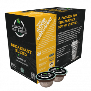 club coffee craft roasters breakfast blend single serve coffee pods